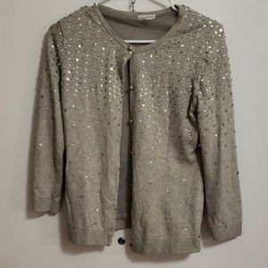 Grey with silver sequin cardigan S